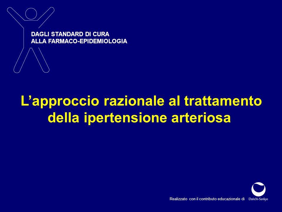 Realizzato con il contributo educazionale di DAGLI STANDARD DI CURA ALLA FARMACO-EPIDEMIOLOGIA L'approccio razionale al trattamento della ipertensione