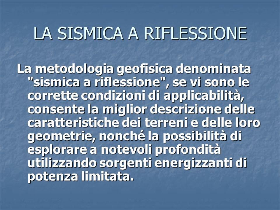 LA SISMICA A RIFLESSIONE La metodologia geofisica denominata