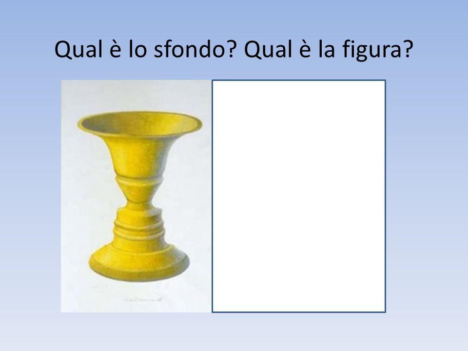 Qual è lo sfondo? Qual è la figura?