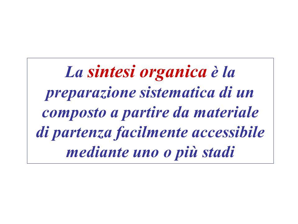La sintesi organica è la preparazione sistematica di un composto a partire da materiale di partenza facilmente accessibile mediante uno o più stadi