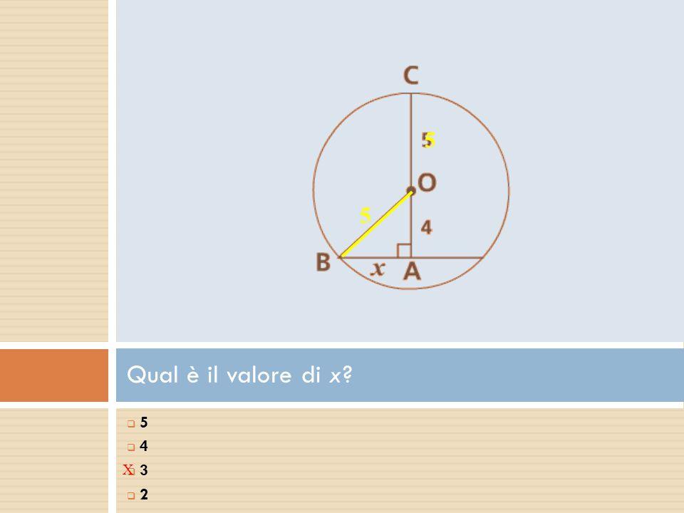 Qual è il valore di x? 5 5  5 5  4 4  3 3  2 2 X