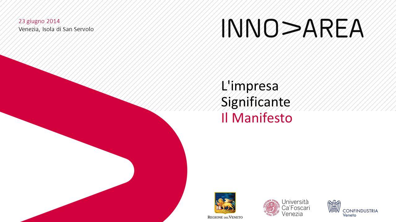 L impresa Significante Il Manifesto 23 giugno 2014 Venezia, Isola di San Servolo