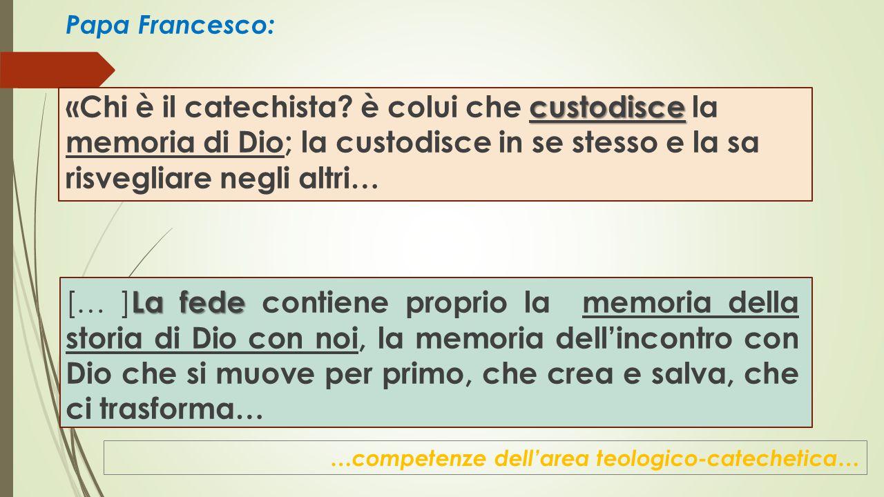 Papa Francesco: custodisce «Chi è il catechista.