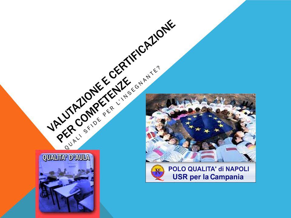 COMPETENZE (IN ITALIA) Il riferimento alle competenze si ritrova anche nelle Indicazioni nazionali per i diversi ordini di scuola allegate al D.Lgs.