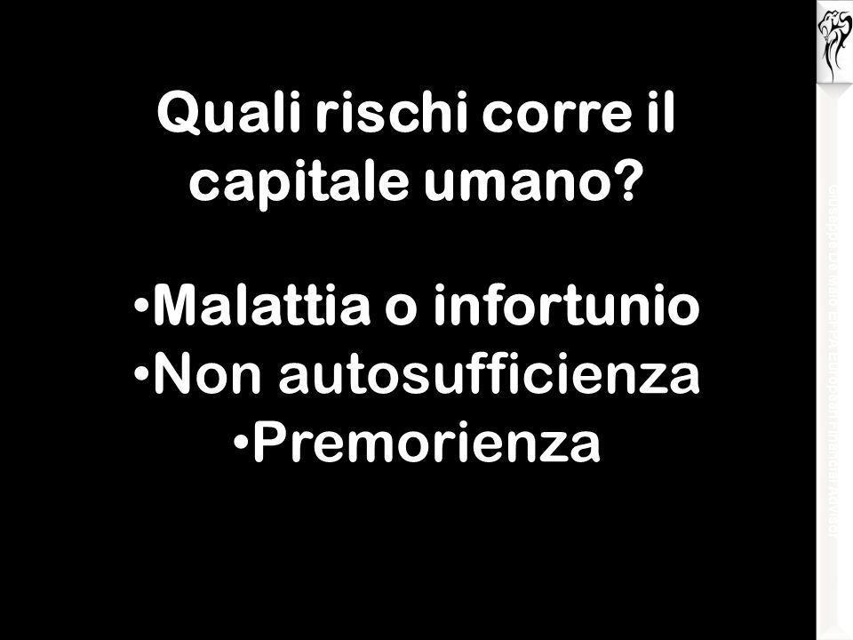 Giuseppe De Maio EFPA European Financial Advisor Quali rischi corre il capitale umano.