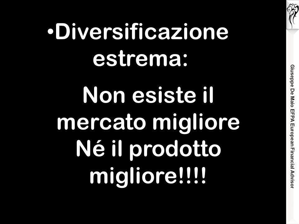 Giuseppe De Maio EFPA European Financial Advisor Diversificazione estrema: Non esiste il mercato migliore Né il prodotto migliore!!!!