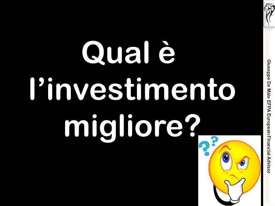 Qual è l'investimento migliore? Giuseppe De Maio EFPA European Financial Advisor