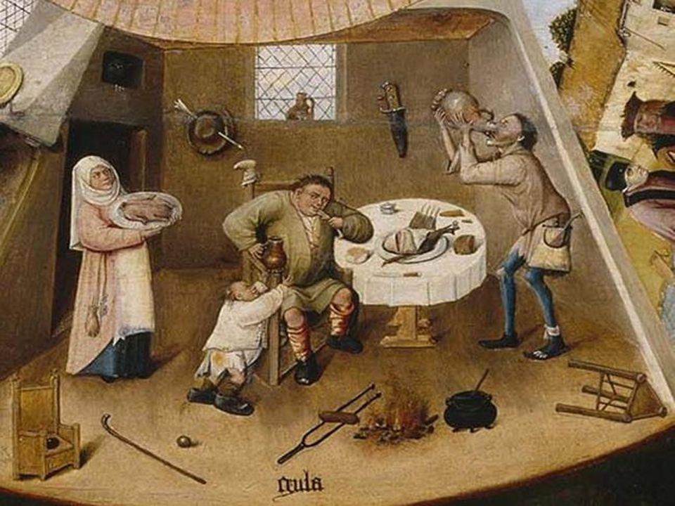 Pieter Brueguel il Vecchio, Il Paese di cuccagna, Alte Pinakothek, Monaco di Baviera (1567)