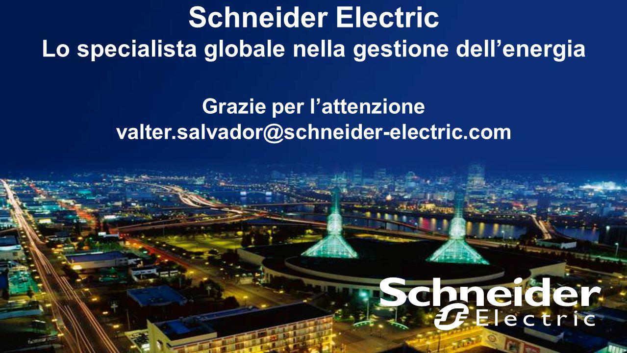 23 Confidential Property of Schneider Electric Schneider Electric Lo specialista globale nella gestione dell'energia Grazie per l'attenzione valter.sa