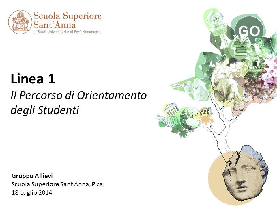1 Linea 1 Il Percorso di Orientamento degli Studenti Gruppo Allievi Scuola Superiore Sant'Anna, Pisa 18 Luglio 2014