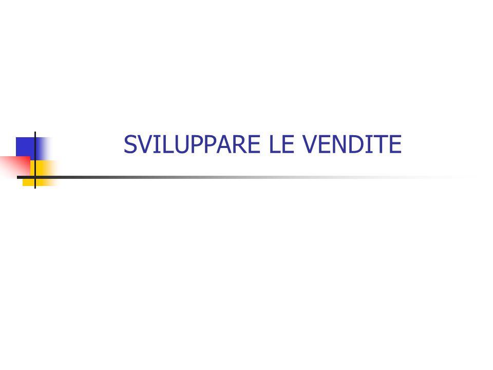 SVILUPPARE LE VENDITE