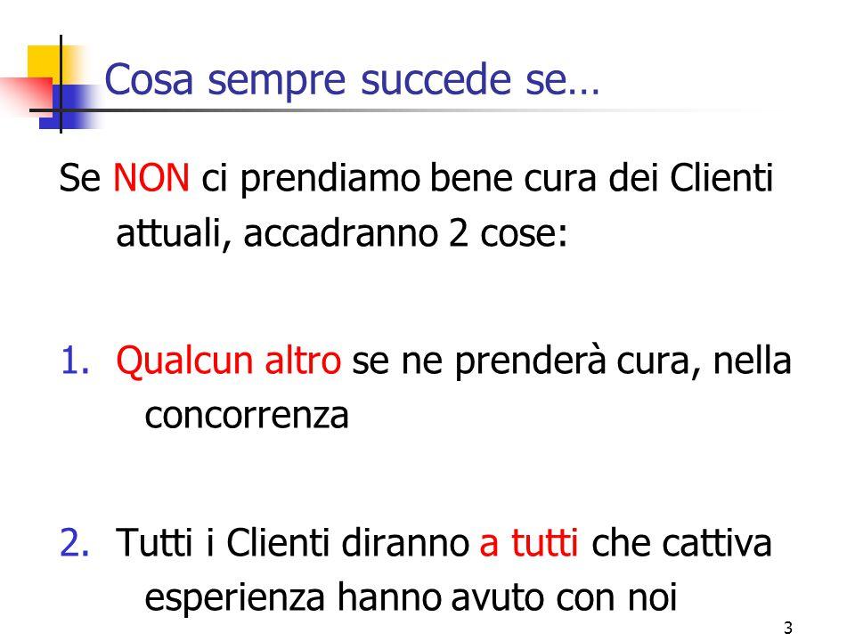 4 Tre regole (1) Regola 1 : ESSERE PRESENTE Qual'è il miglior modo di prendersi cura dei Clienti.