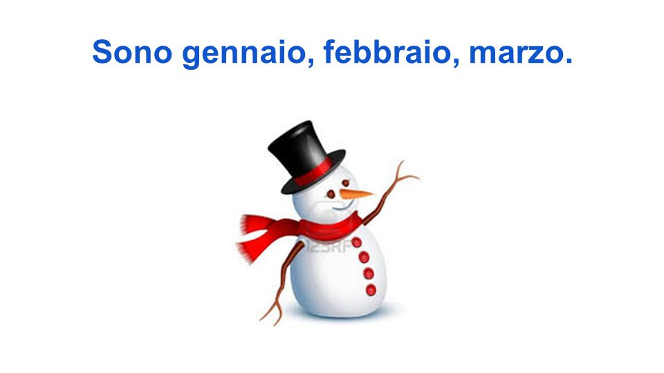 inverno... un pupazzo di neve <- un cappello <-una sciarpa i colori sono, azzurro, viola bianco
