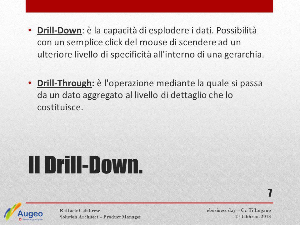 7 Drill-Down: è la capacità di esplodere i dati.