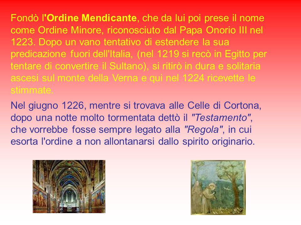 San Francesco d'Assisi Francesco Bernardone nacque ad Assisi nel 1182 da Pietro Bernardone dei Moriconi e dalla nobile Pica Bourlemont. Il padre era u