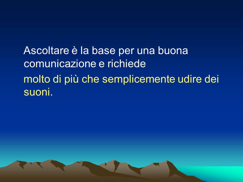 Ascoltare è la base per una buona comunicazione e richiede molto di più che semplicemente udire dei suoni.