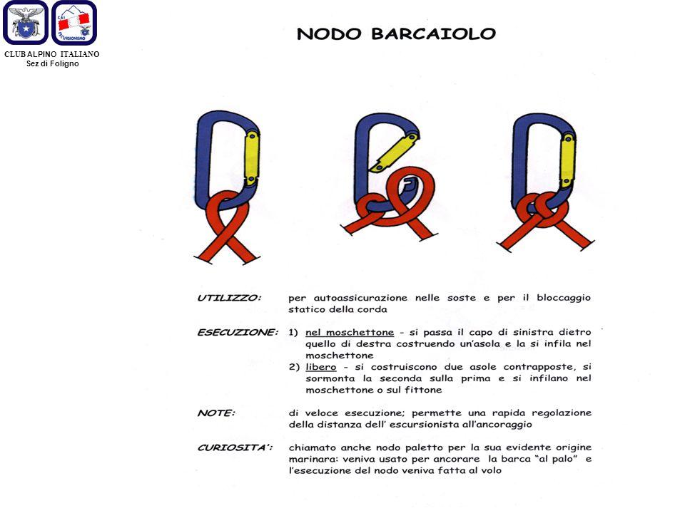 CLUB ALPINO ITALIANO Sez di Foligno Fine Nodi e Manovre di Corda Grazie per l'attenzione