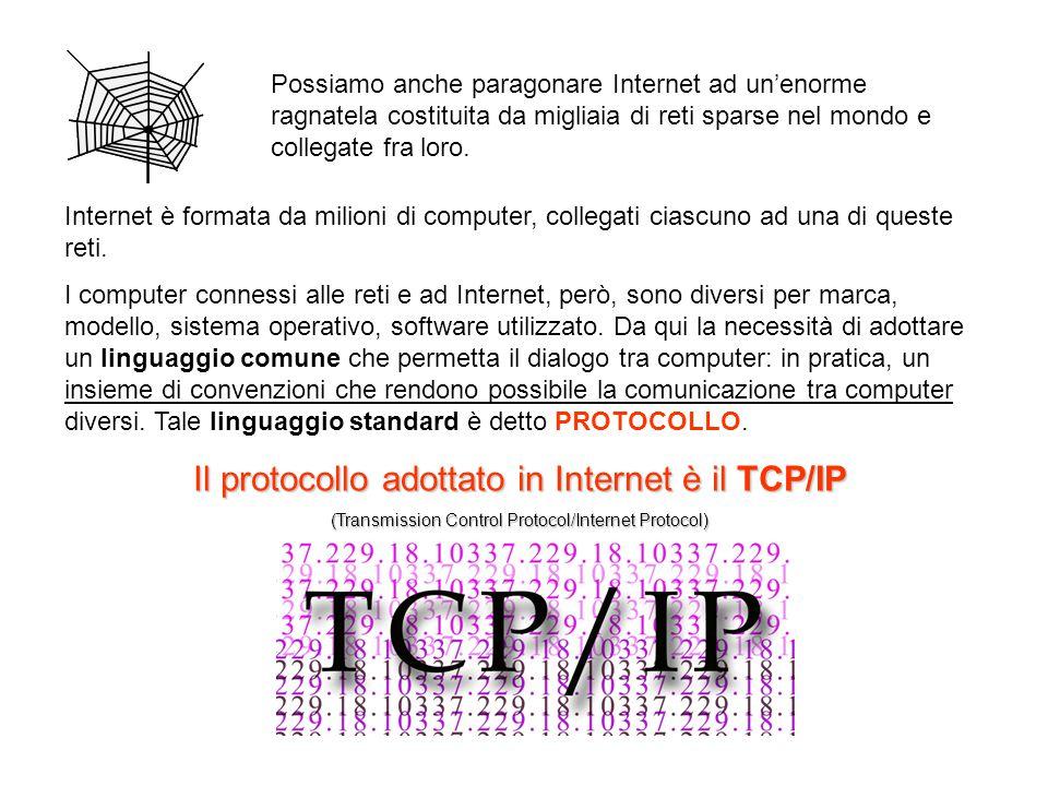 Internet è formata da milioni di computer, collegati ciascuno ad una di queste reti. I computer connessi alle reti e ad Internet, però, sono diversi p