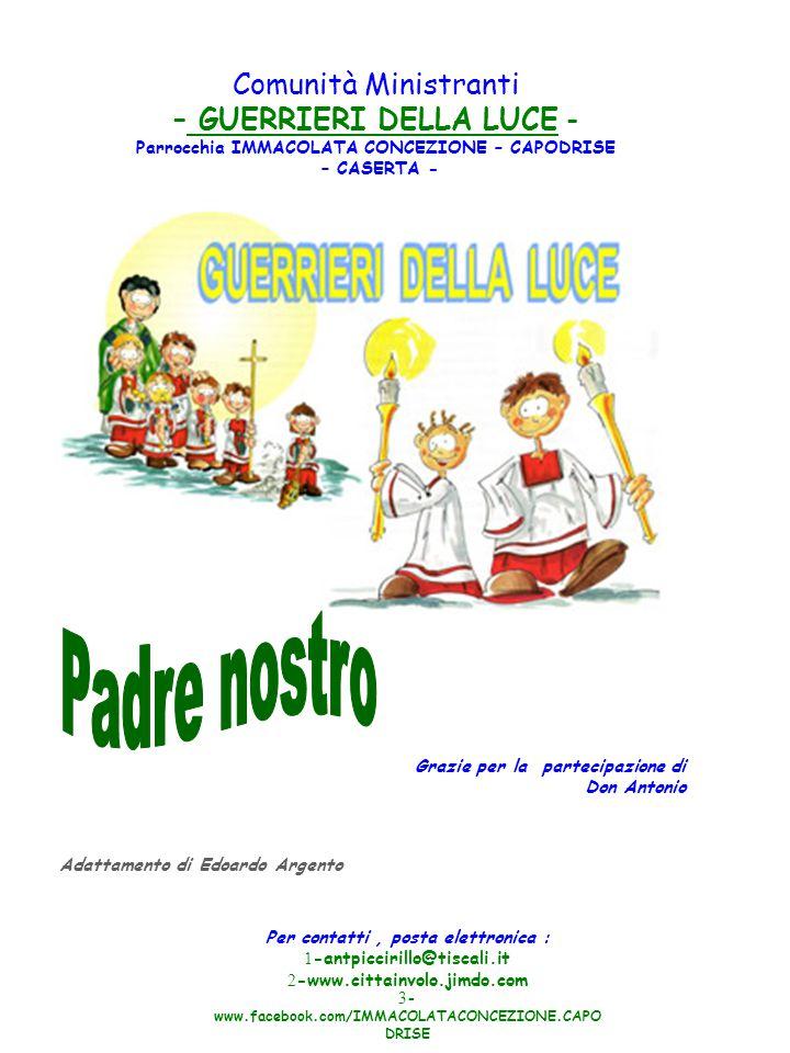 Per contatti, posta elettronica : 1 -antpiccirillo@tiscali.it 2 -www.cittainvolo.jimdo.com 3 - www.facebook.com/IMMACOLATACONCEZIONE.CAPO DRISE Comuni