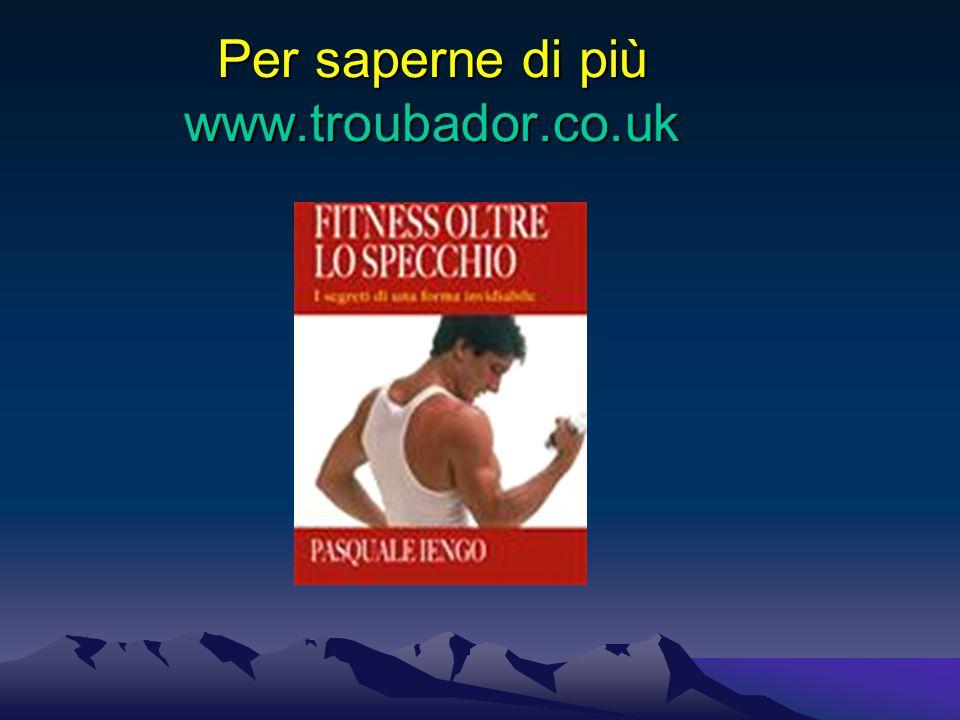 Per saperne di più www.troubador.co.uk
