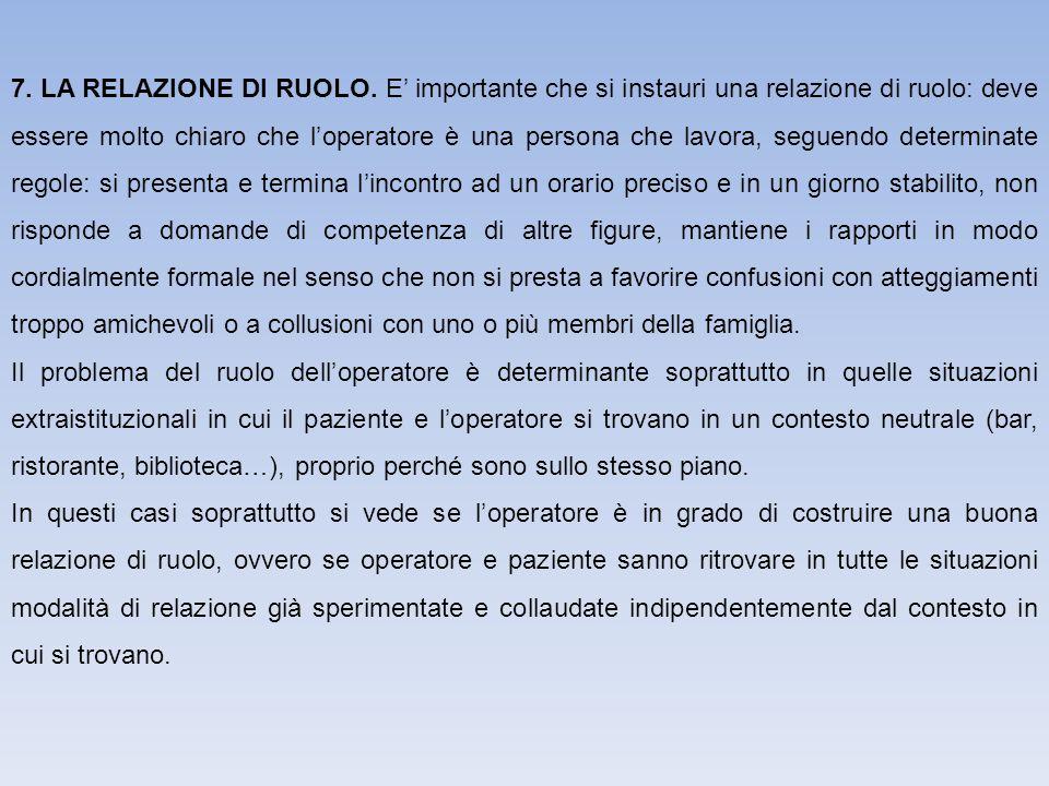 7.LA RELAZIONE DI RUOLO.