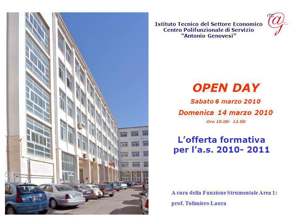 Istituto Tecnico del Settore Economico Centro Polifunzionale di Servizio Antonio Genovesi L'offerta formativa per l'a.s.