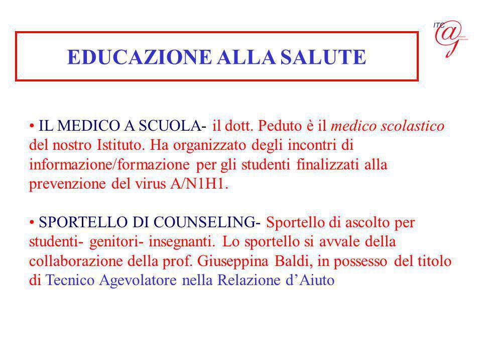 EDUCAZIONE ALLA SALUTE IL MEDICO A SCUOLA- il dott.