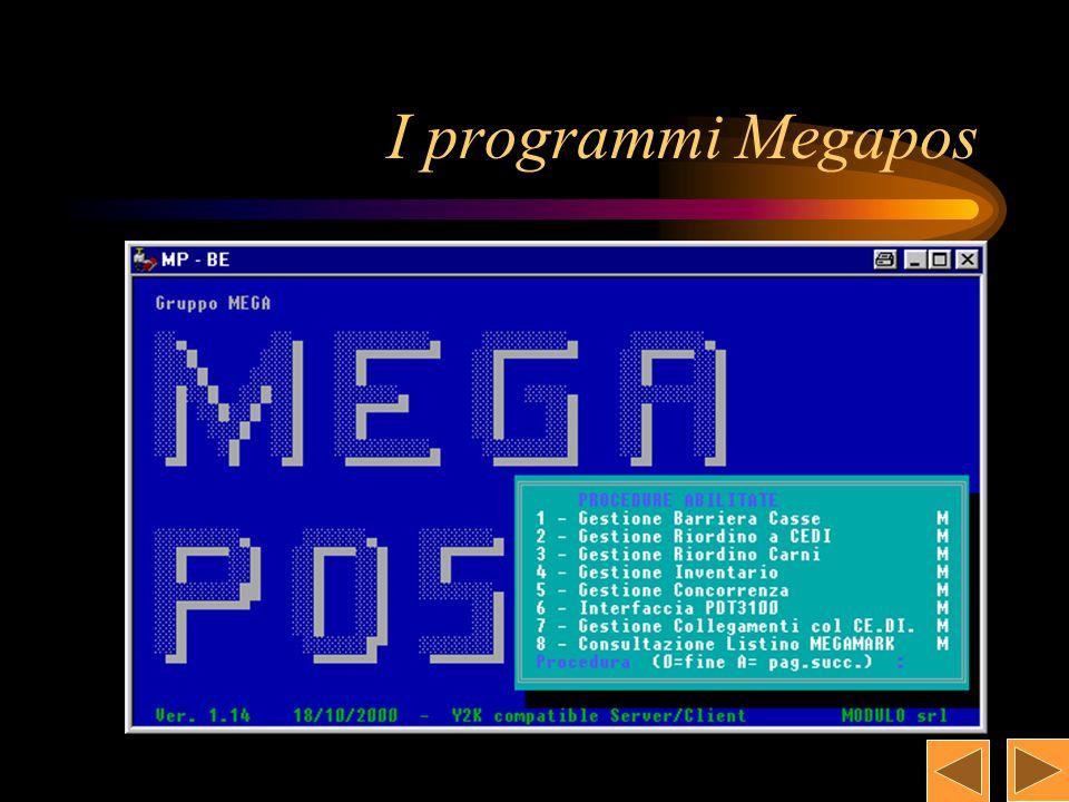 La gestione di Megapos Interfaccia PDT3100 Gestione Riordino a Ce.di.
