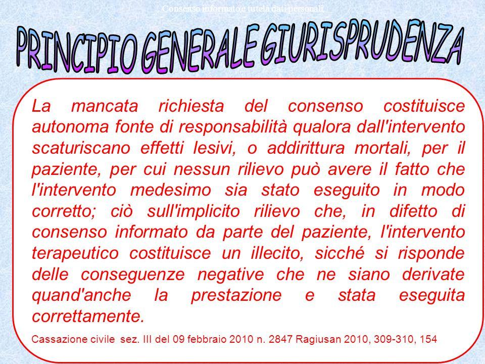 Como 2011 Dott. Antonino Zagari Consenso informato e tutela dati personali La mancata richiesta del consenso costituisce autonoma fonte di responsabil