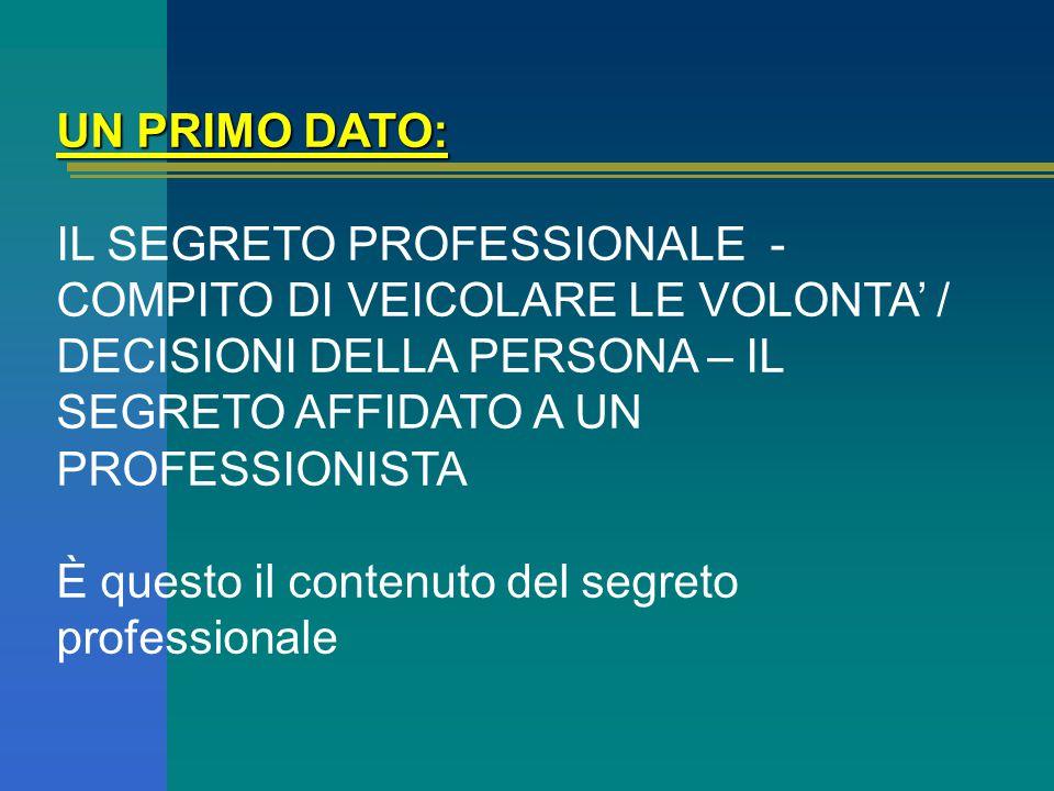 ESPRESSIONE DELL'AUTODETERMINAZIONE DELLA PERSONA - PROGETTO DI VITA - RISPOSTA AD UN BISOGNO