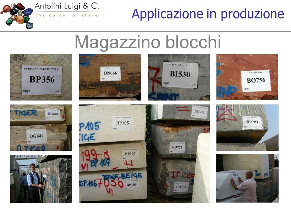 Magazzino blocchi Applicazione in produzione