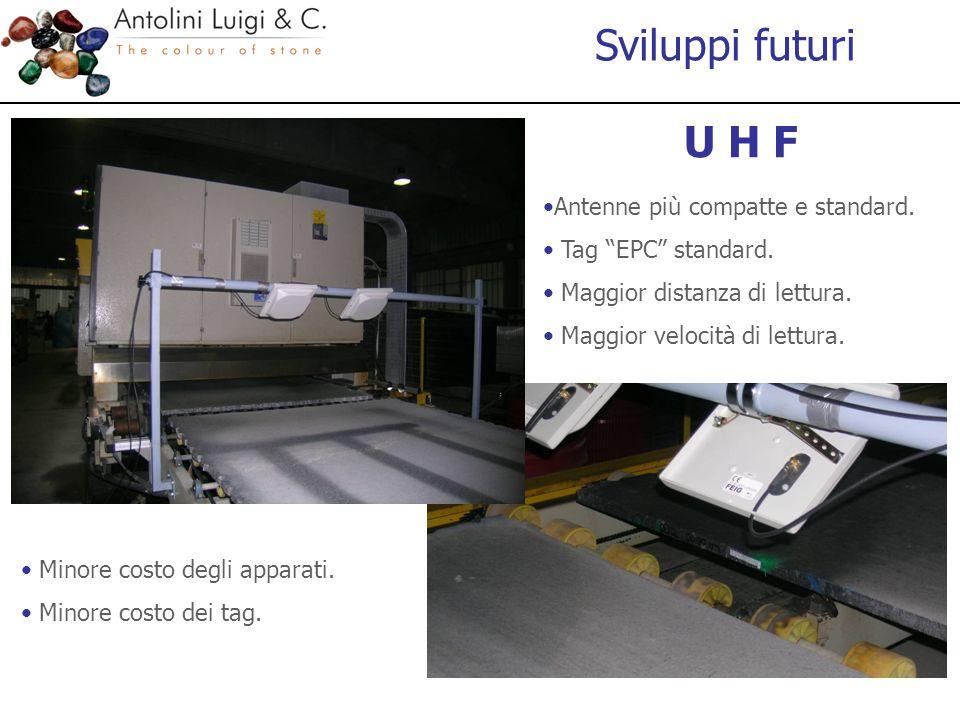 Sviluppi futuri Antenne più compatte e standard.Tag EPC standard.