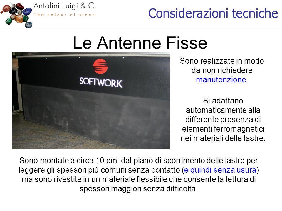 Considerazioni tecniche Le Antenne Fisse Sono realizzate in modo da non richiedere manutenzione.