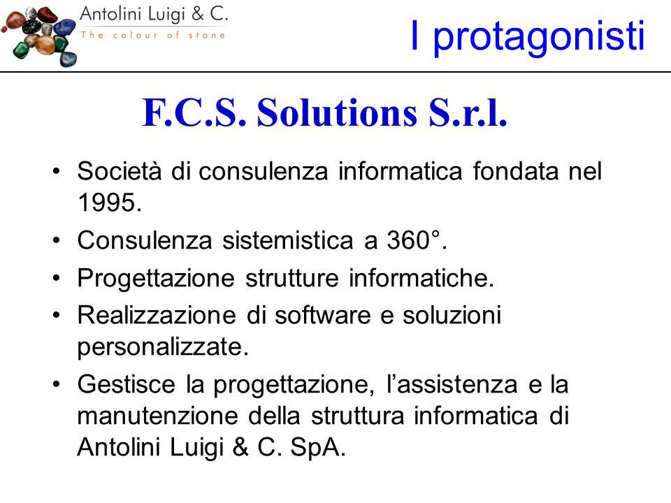 F.C.S. Solutions S.r.l. Società di consulenza informatica fondata nel 1995. Consulenza sistemistica a 360°. Progettazione strutture informatiche. Real