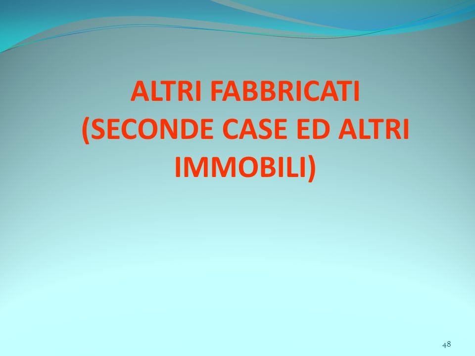 48 ALTRI FABBRICATI (SECONDE CASE ED ALTRI IMMOBILI)