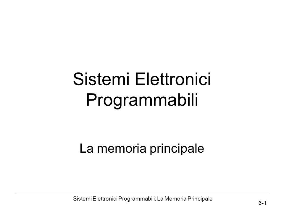 Sistemi Elettronici Programmabili: La Memoria Principale 6-1 Sistemi Elettronici Programmabili La memoria principale