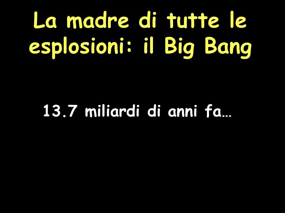 La madre di tutte le esplosioni: il Big Bang 13.7 miliardi di anni fa…