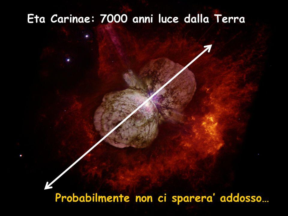 Eta Carinae: 7000 anni luce dalla Terra Probabilmente non ci sparera' addosso…