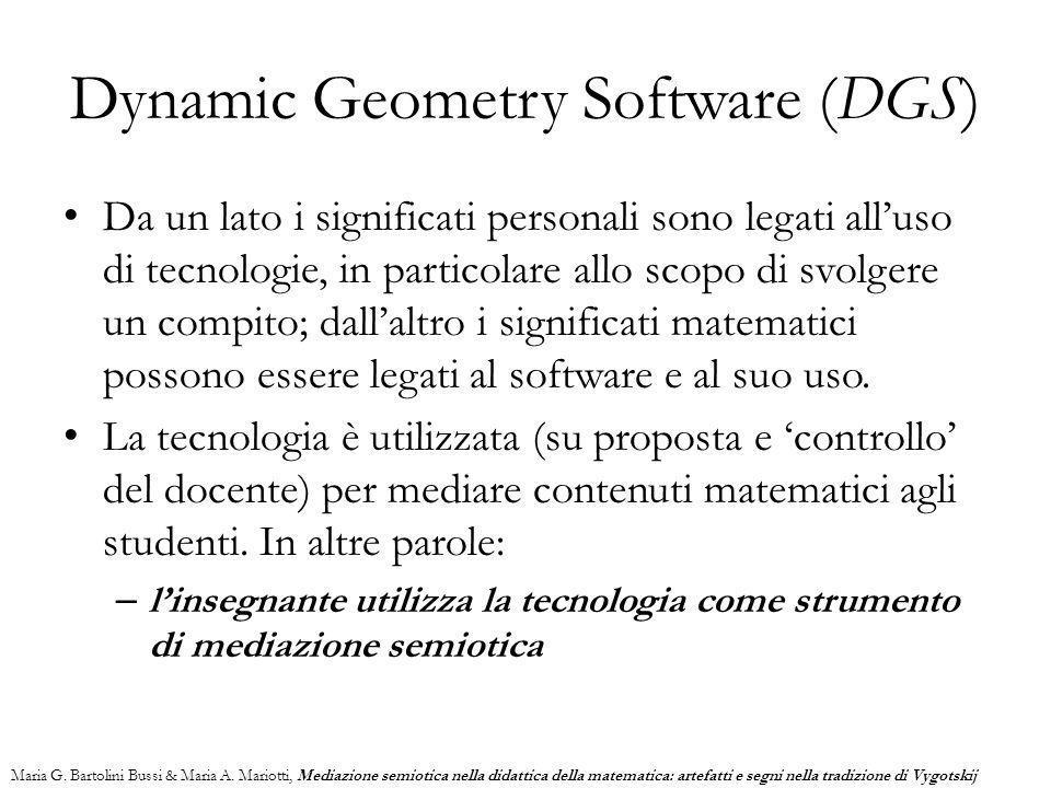 Da un lato i significati personali sono legati all'uso di tecnologie, in particolare allo scopo di svolgere un compito; dall'altro i significati matem
