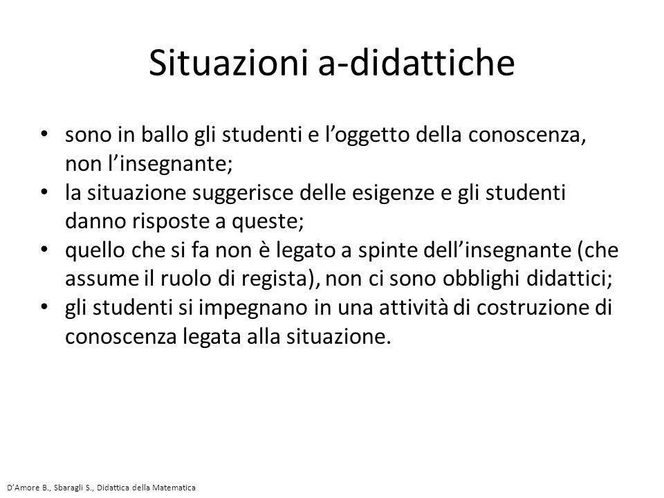 sono in ballo gli studenti e l'oggetto della conoscenza, non l'insegnante; la situazione suggerisce delle esigenze e gli studenti danno risposte a que