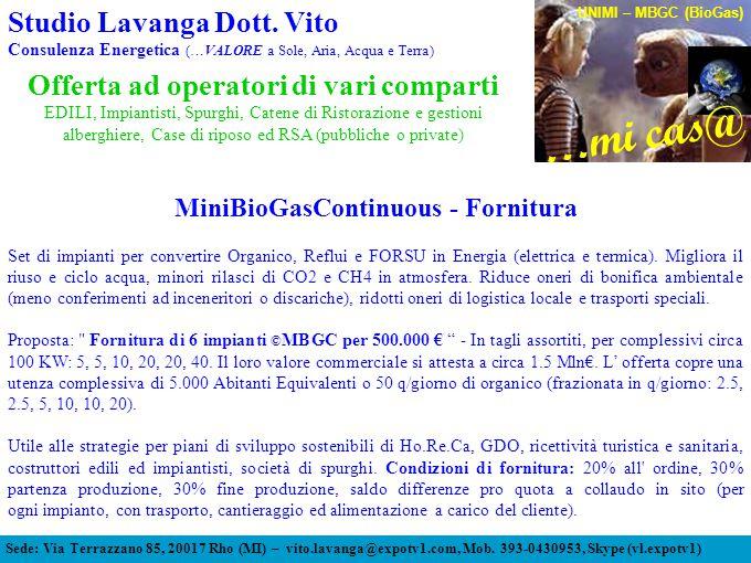 Sede: Via Terrazzano 85, 20017 Rho (MI) – vito.lavanga@expotv1.com, Mob.