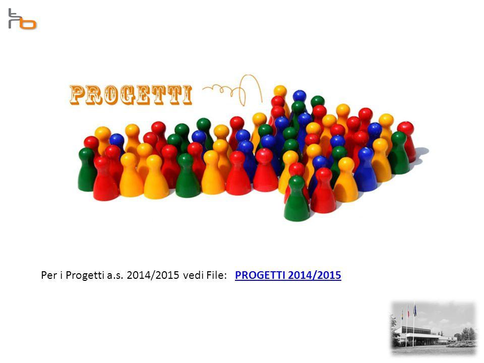 Per i Progetti a.s. 2014/2015 vedi File: PROGETTI 2014/2015PROGETTI 2014/2015