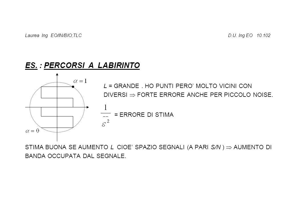 Laurea Ing EO/IN/BIO;TLC D.U. Ing EO 10.102 ES. : PERCORSI A LABIRINTO L = GRANDE.