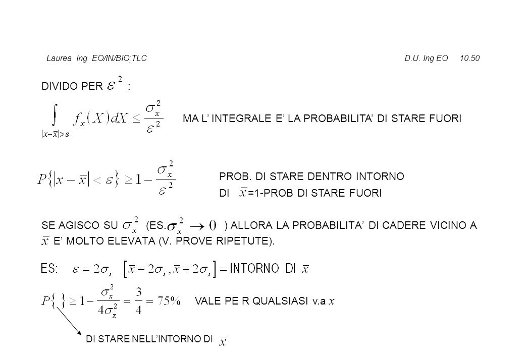 Laurea Ing EO/IN/BIO;TLC D.U. Ing EO 10.50 DIVIDO PER : SE AGISCO SU (ES.