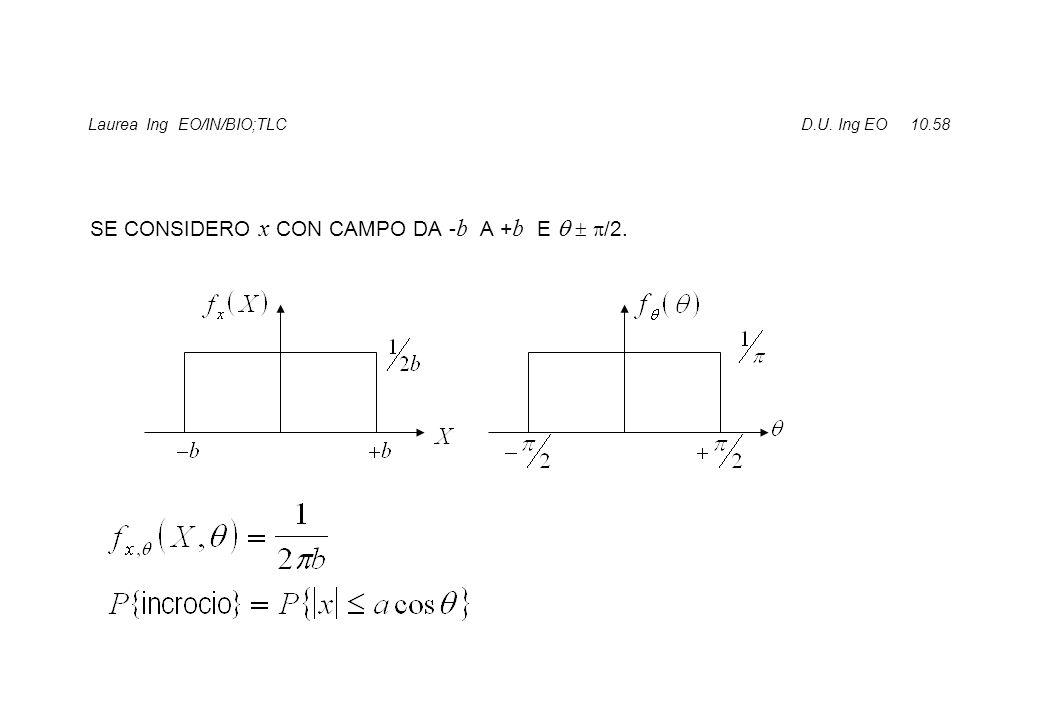 Laurea Ing EO/IN/BIO;TLC D.U. Ing EO 10.58 SE CONSIDERO x CON CAMPO DA - b A + b E    /2.