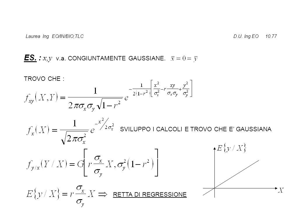 Laurea Ing EO/IN/BIO;TLC D.U.Ing EO 10.77 ES. : x,y v.a.