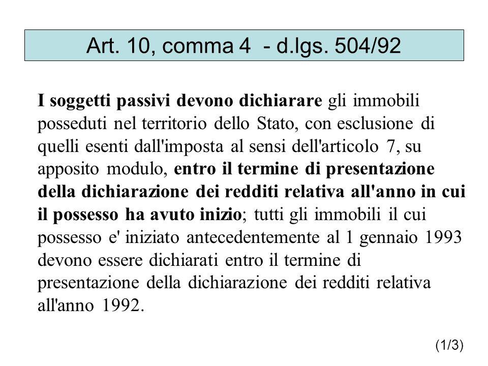 Art.10, comma 4 - d.lgs.