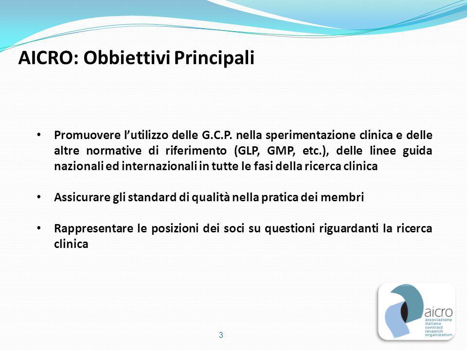 Promuovere l'utilizzo delle G.C.P. nella sperimentazione clinica e delle altre normative di riferimento (GLP, GMP, etc.), delle linee guida nazionali