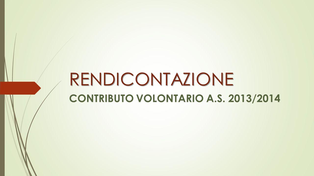 RENDICONTAZIONE CONTRIBUTO VOLONTARIO A.S. 2013/2014