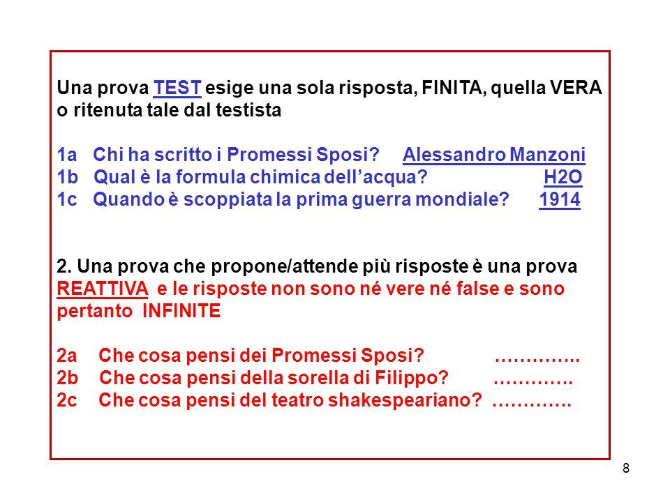 99 1.1. area delle proposizioni VERE///FALSE 2. 2.